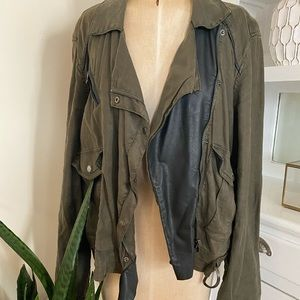 BlankNYC Leather and Utility Jacket